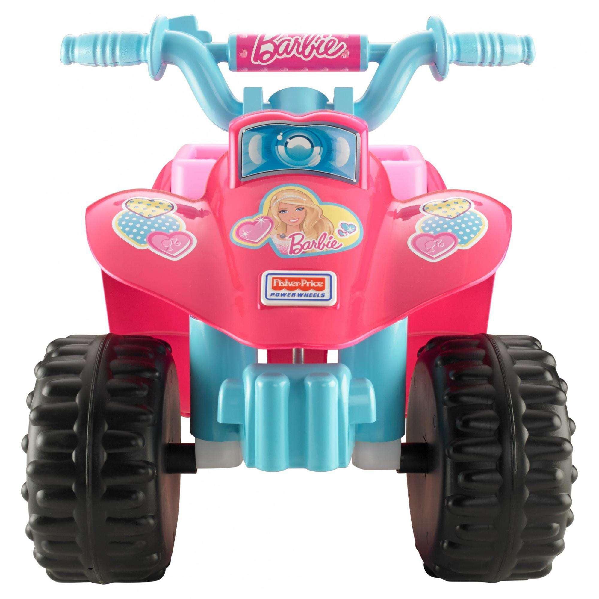 Power Wheels Barbie Princess Lil Quad 6 Volt Battery Powered Ride On Walmart Com Walmart Com