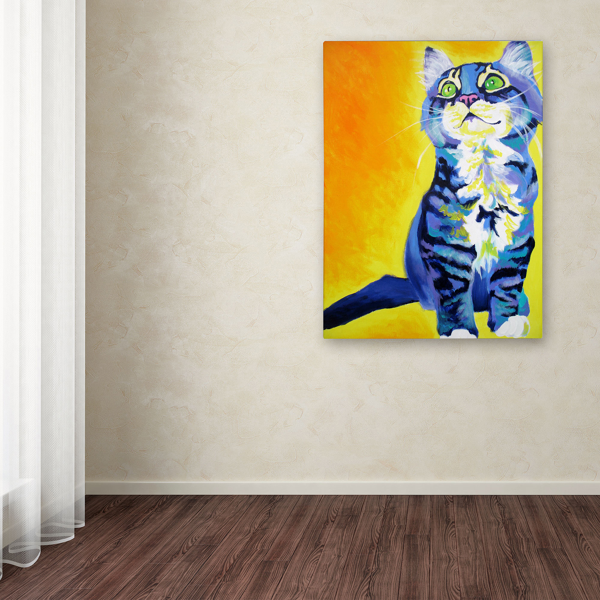 "Trademark Fine Art ""Here Kitty Kitty"" Canvas Art by DawgArt"
