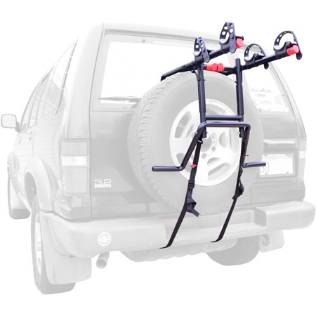 Allen Sports Premier 2-Bicycle Spare Tire Mounted Bike Rack Carrier, (Racor Bicycle Rack)