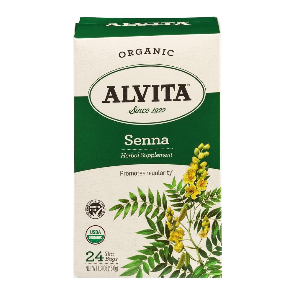 Alvita Herbal Supplement Senna Tea Bags - 24 CT