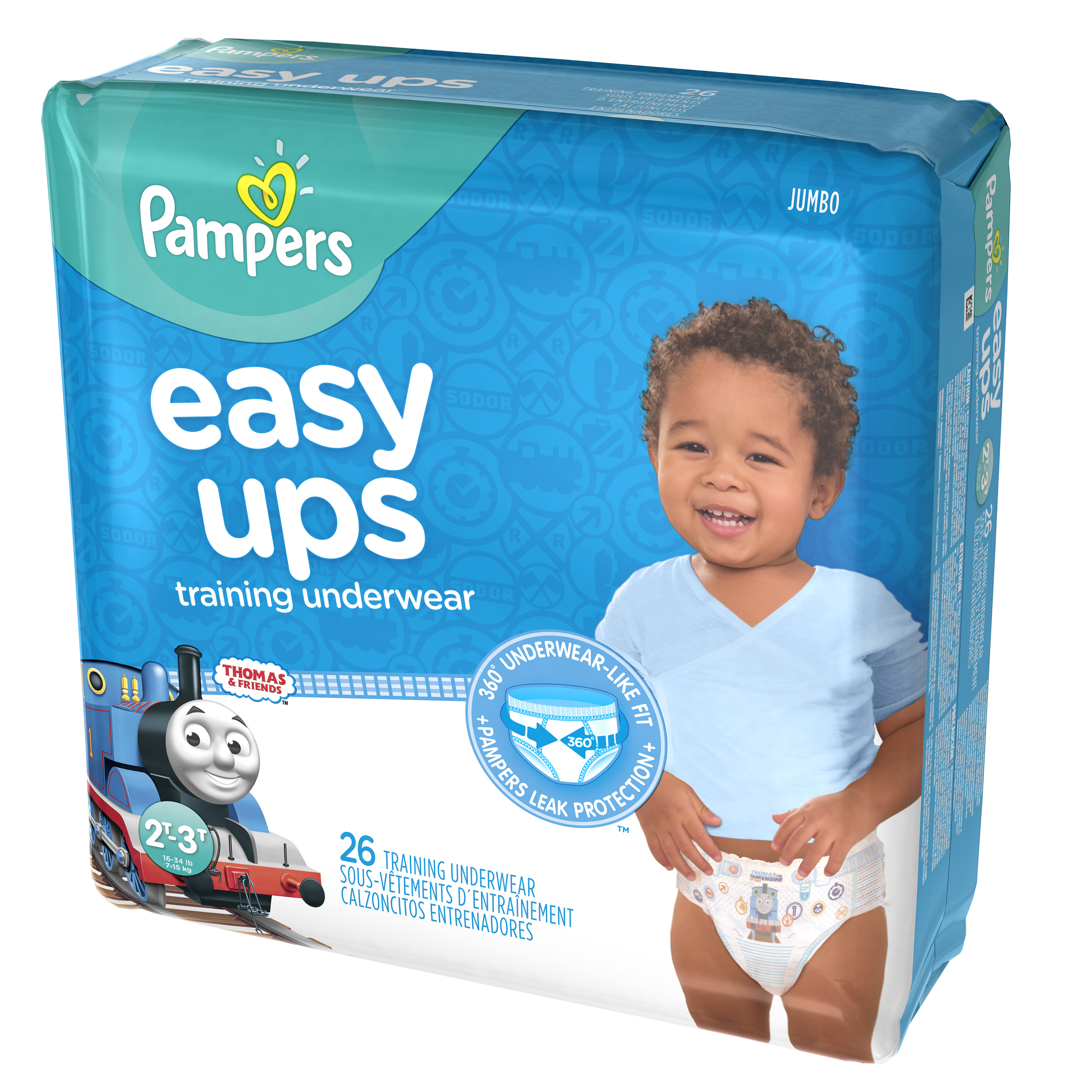 Pampers Easy Ups Training Underwear Boys Size 4 2T-3T 26 Count