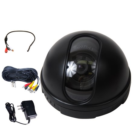 VideoSecu Built-in 1/3 inch CCD Security Camera 3.6mm Wide Angle 420TVL w/ Power Supply, Cable and Audio Microphone (420 Tvl Ccd Camera)