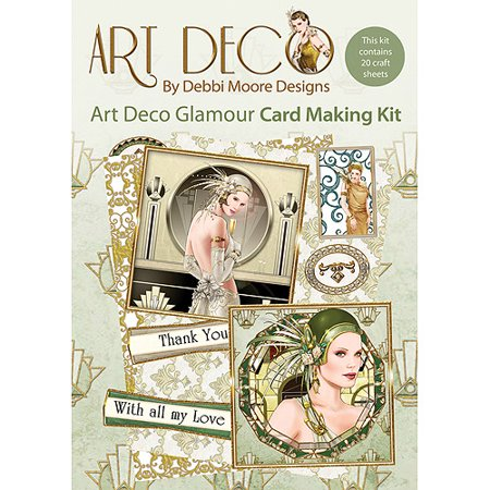 Debbi Moore Art Deco Card Kit by