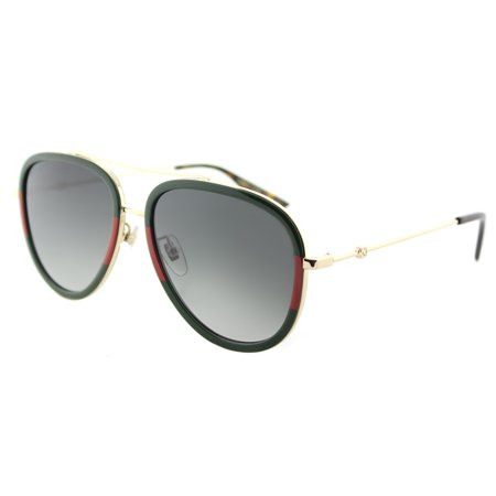 Gucci GG0062S 003 Women's Aviator (Gucci Sunglasses Metal Frame)