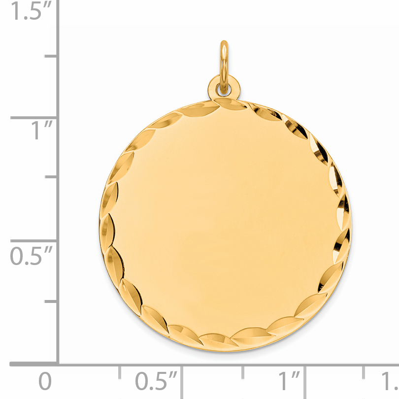 925 Sterling Silver Gp Engraveable Round Disc Pendant Charm Necklace Engravable Fine Jewelry Gifts For Women For Her - image 1 de 2