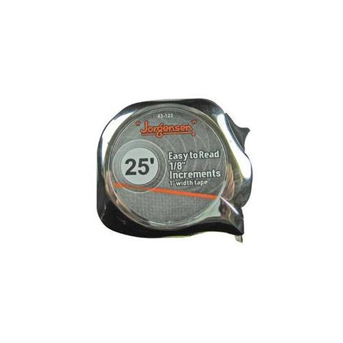 """Easy to Read Tape Measures - 1""""x25' metric/sae powermeasuring tape chrome"""