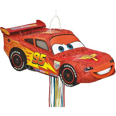 Disney Cars Pinata, Shaped Pull - Cars Pinata
