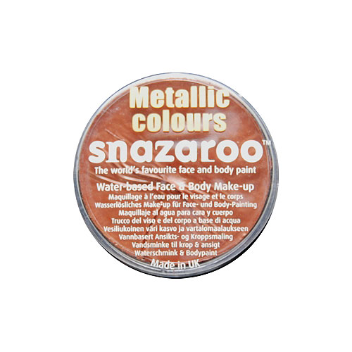 SNAZAROO 18ml Electric Copper Metallic Color FACE PAINT