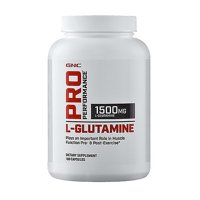 GNC Pro Performance L-Glutamine, 180 Capsules, Supports Muscle Recovery