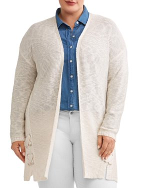d815f85fb Women s Plus-Size Cardigans and Sweaters - Walmart.com - Walmart.com