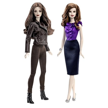 Twilight Saga Bella   Esme Cullen Girls Vampire Collector Set Barbie Pink Label Toy Doll Figure Collectible Movie Merchandise