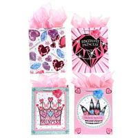 FLOMO Large Metallic Princess Girl's 'Gem Birthday' Gift Bags