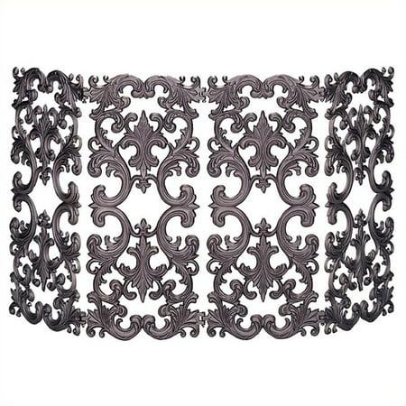 Pemberly Row 4 Fold Bronze Cast Aluminum Fireplace Screen