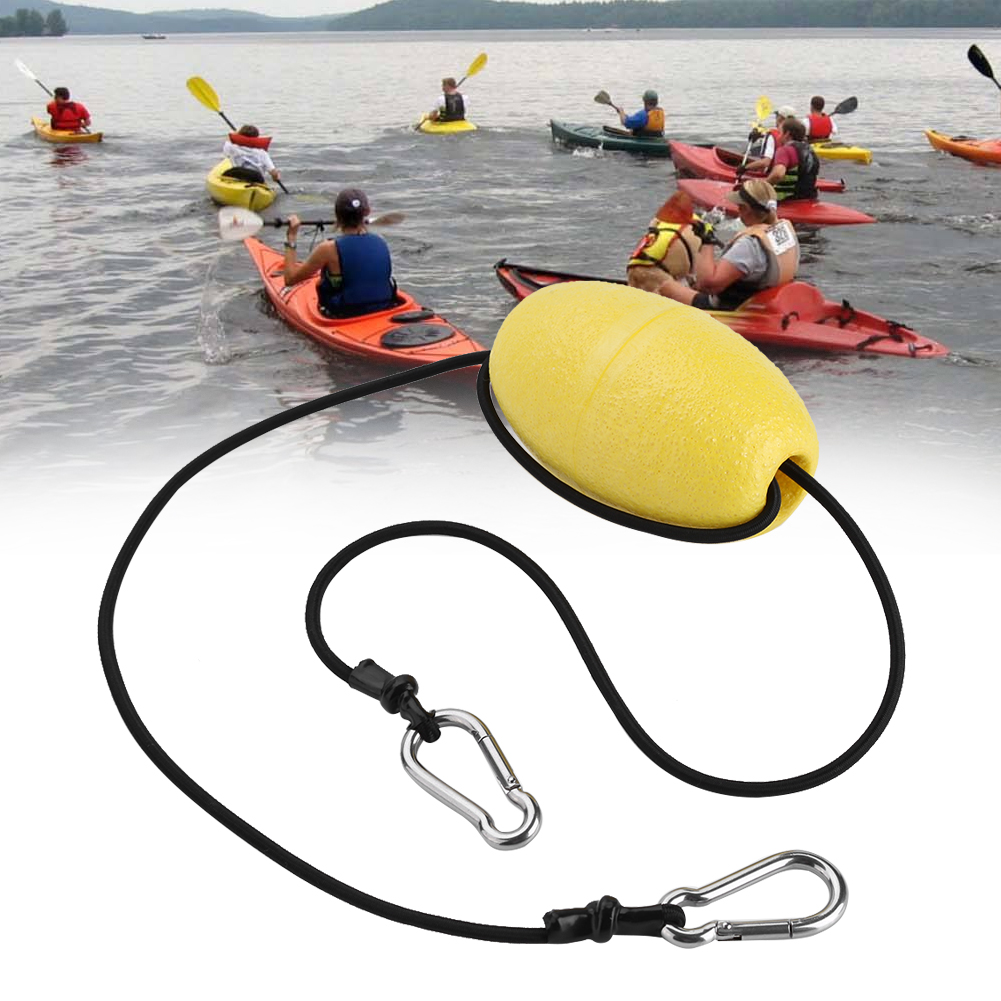 Kayak Drift Anchor Tow Nylon Rope With EVA Buoy Steel Clips Kayak Accessory,drift anchor rope, anchor tow line