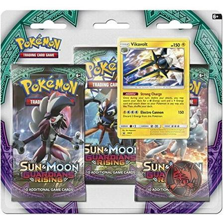 Pokemon Sun & Moon Guardians Rising 3-Booster Blister Pack,