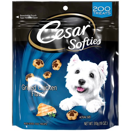 Cesar Softies Dog Treats Grilled Chicken Flavor, 18 oz. Pouch (200 Treats) Flavored Chewy Dog Treats