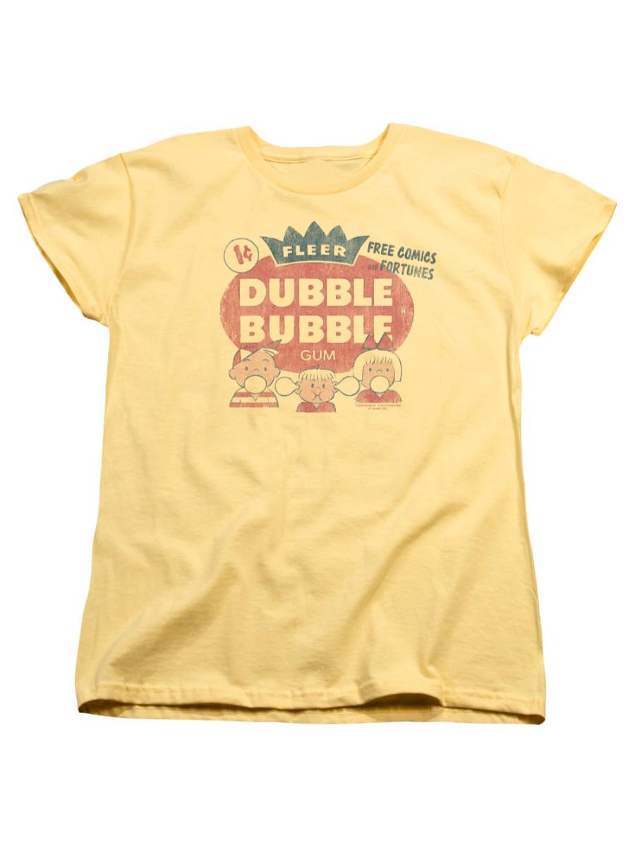 Dubble Bubble Nostalgic Candy Cotton Candy Juniors Sheer T-Shirt Tee
