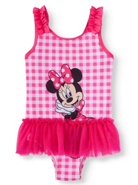 Minnie Mouse Toddler Girl One-Piece Tutu Swimsuit