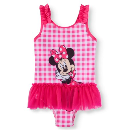 Toddler Girls' Minnie Mouse Tutu One Piece Swimsuit](Minnie Mouse Suit)