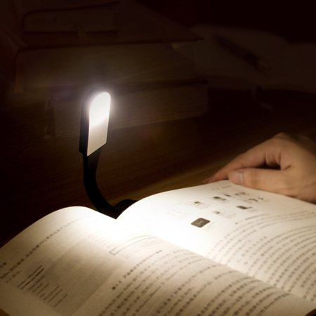 Flexible LED Dimmable Eye-Protection Touch Sensor Light Reading Book Clip Lamp - image 2 de 7