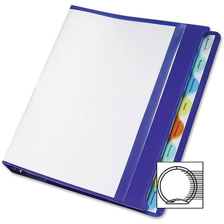 Acco wilson jones view tab poly presentation binders for Templates wilson jones 8 tabs