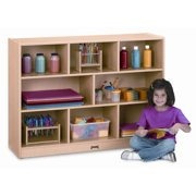 Jonti-Craft Super Sized Single 8 Compartment Shelving Unit with Casters