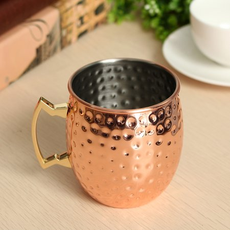 Grtsunsea Moscow Mule Mug 530ml 18oz Stainless Steel Copper Plated Drinking Coffee Drinkware Cup Bar Home Party Drinking Cup 4pcs of 20% off