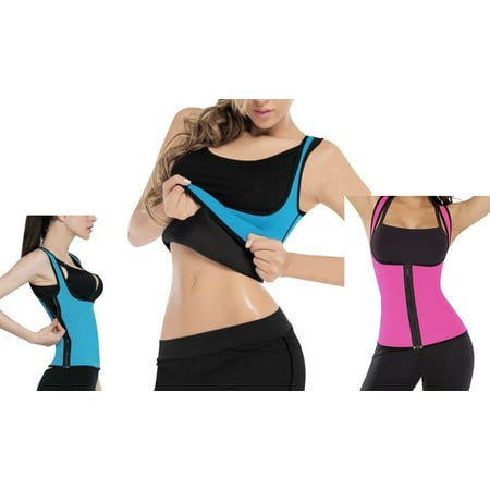 Thermo Neoprene Gym Waist Trainer Shirt Ultra Sweat Body Shaper Slimming Vest Belt Cincher Girdle For Weight Loss Women Com
