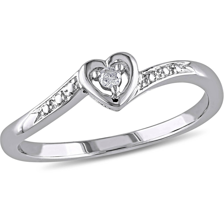 miabella diamond accent sterling silver heartshaped