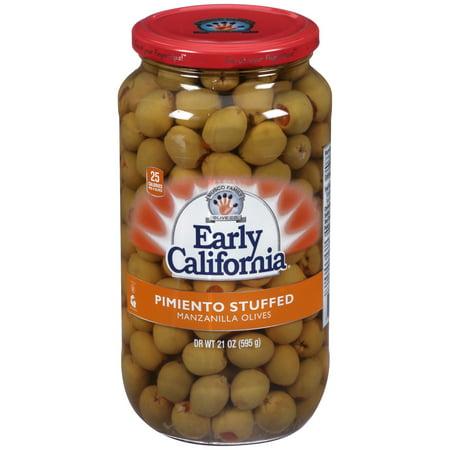 (2 pack) Early California Pimiento Stuffed Manzanilla Olives 21 oz. Jar
