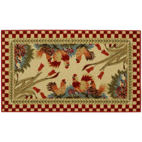 Rugnur Cucina Rooster Checke Kitchen Mat