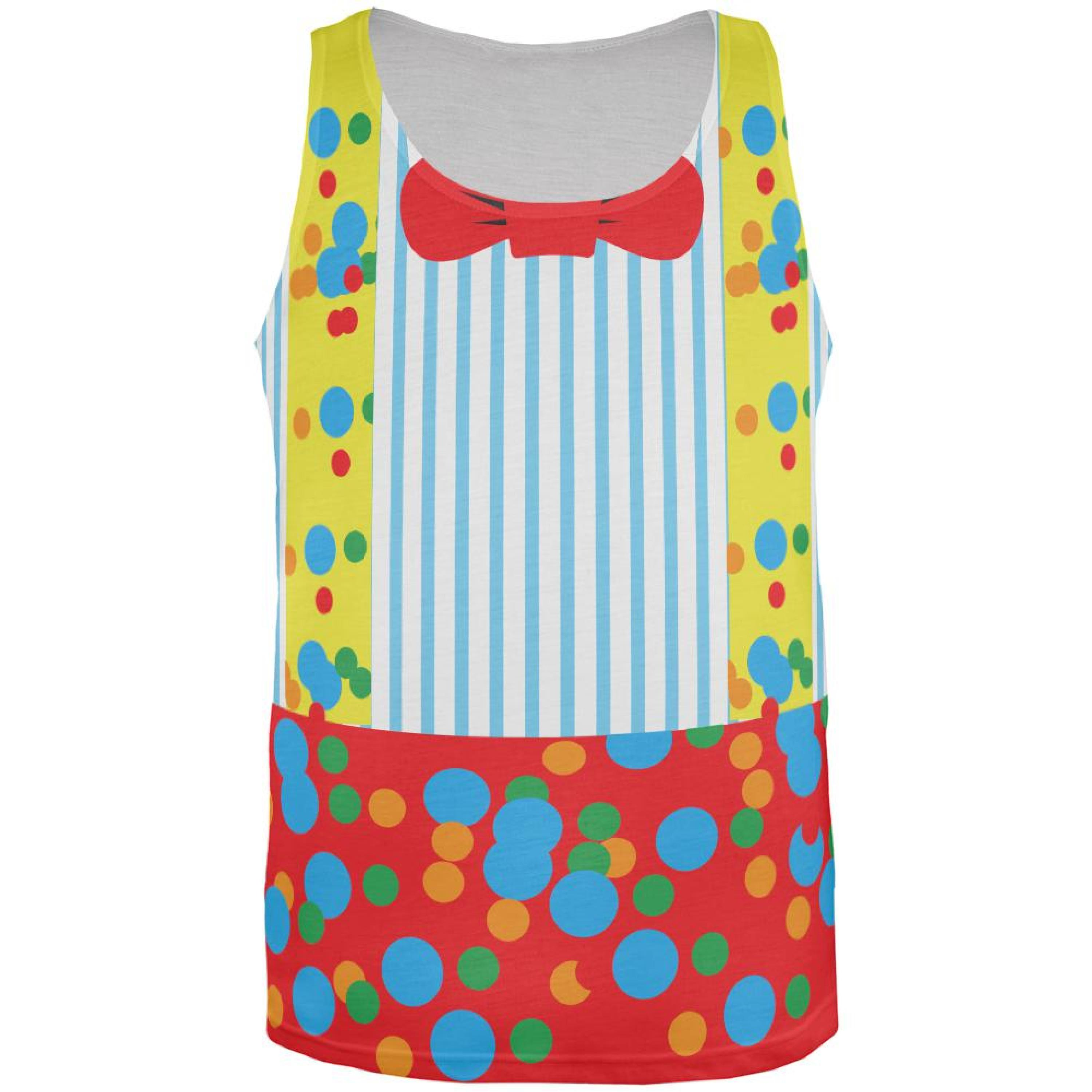 Halloween Clown Costume All Over Adult Tank Top