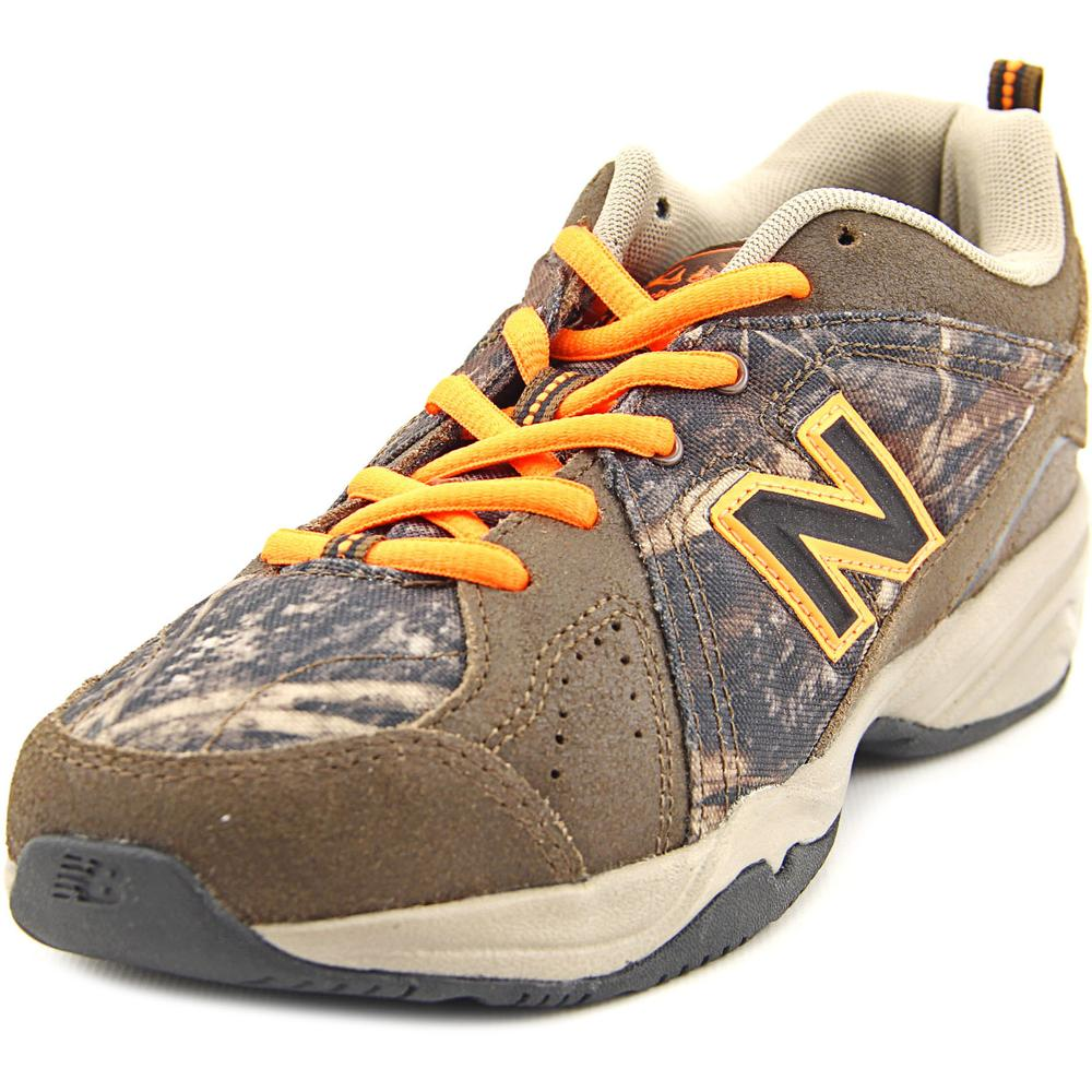 New Balance KX624 Youth Round Toe Leather Brown Sneakers by New Balance