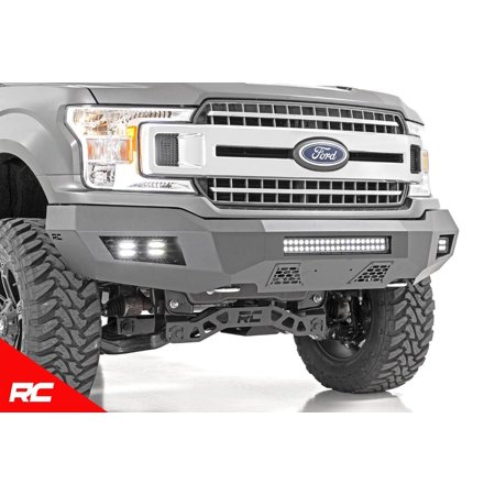 Duty Cube Truck - Rough Country Heavy Duty Front Offroad Bumper w/ LEDs (fits) 2018-2019 F150 ( F-150 ) 4- Cubes (1) 20
