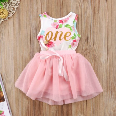 Baby Girl First Birthday Themes (Baby Girl 1st Birthday Party Dress Floral Romper Tutu Skirt Outfit Clothes)