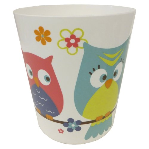 Mainstays Whooty Hoot Decorative Bath Collection Wastecan