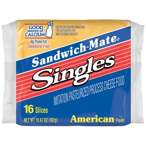 Borden Sandwich-Mate American Cheese Singles, 16 ct