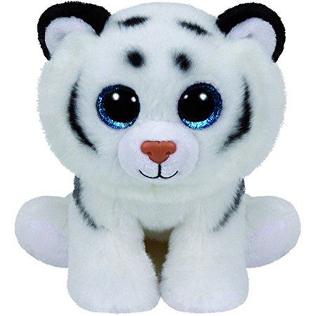 TY Beanie Boos - Tundra The White Tiger  (Glitter Eyes) Small 6