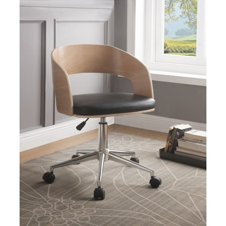 ACME Yoshiko Office Chair in Black Leatherette and