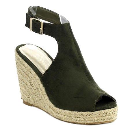a97a6047ab5 SNJ - Women s Fashion High Heel Platform Espadrilles Wedge Ankle Strap Open  Toe Sandal (FREE SHIPPING) - Walmart.com