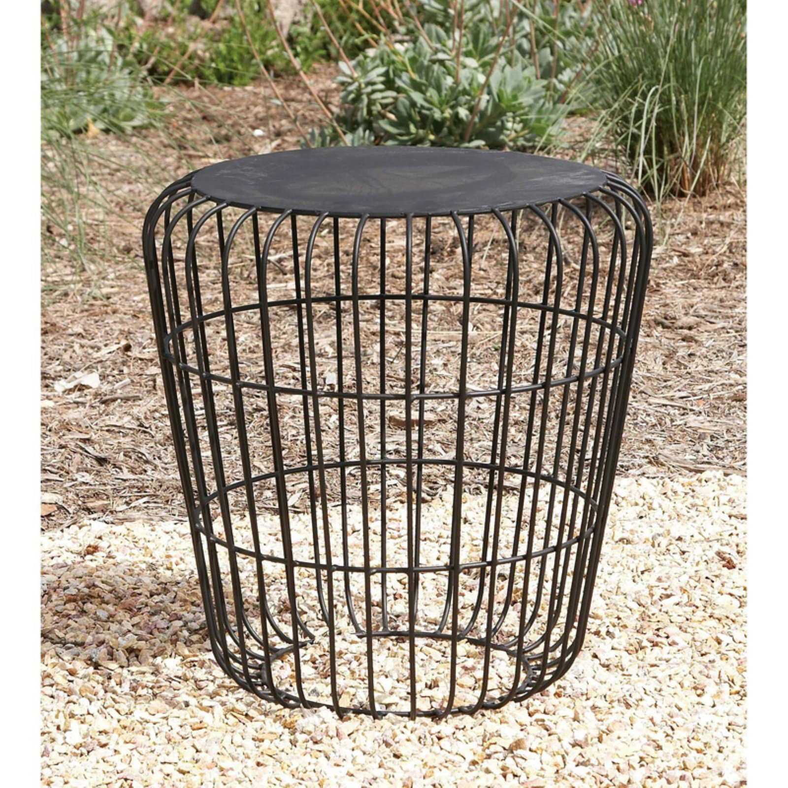 Artistic Metal Accent Table by Benzara