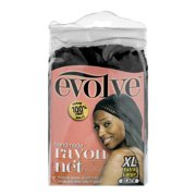 Evolve Handmade Rayon Net XL Black, 1.0 CT