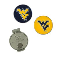 West Virginia Mountaineers Hat Clip & Ball Markers Set