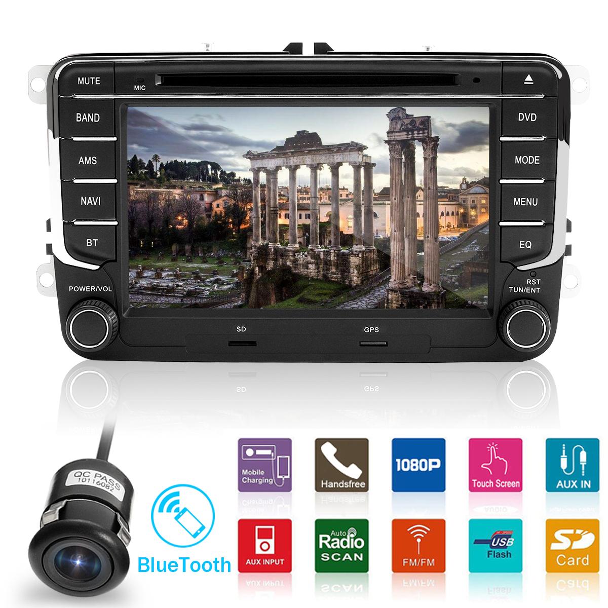 "Double Din 7"" Car Stereo Radio DVD Sat Nav GPS bluetooth For VW Golf MK5 MK6 Jetta Passat CD Player/DVD Player/MP3 Player/USB/microSD Ports"