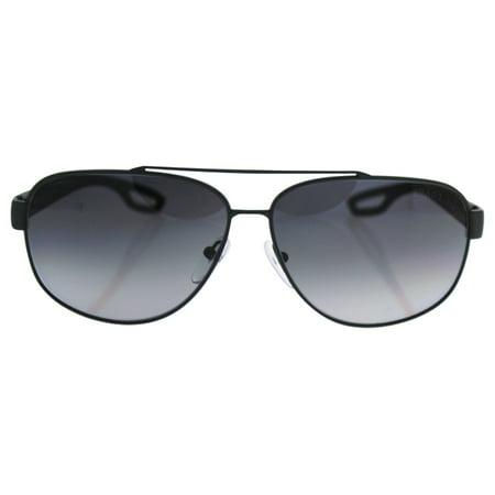Prada SPS 58Q TFZ-5W1 - Grey/Grey Rubber Gradient Polarized by Prada for Men - 63-12-140 mm Sunglasses