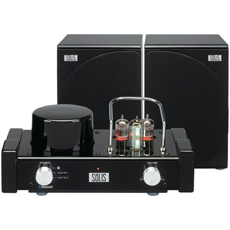 SOLIS Bluetooth Stereo Vacuum Tube Audio System - Black (SO-8000)