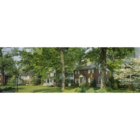 Facade Of Houses Broadmoor Ave Baltimore City Maryland USA Canvas Art - Panoramic Images (18 x 6) (Baltimore House)