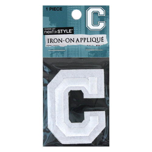 "Next Style Single Embroidery Letter, ""C"", White"