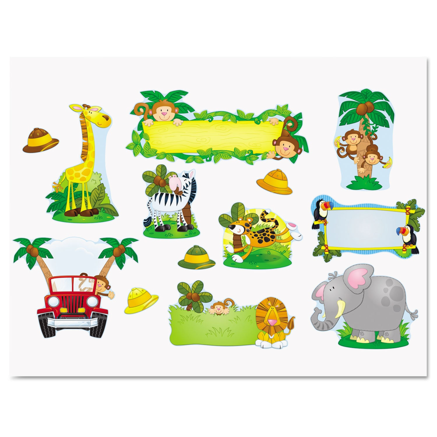 Carson-Dellosa Publishing  Jungle Safari Bulletin Board Set