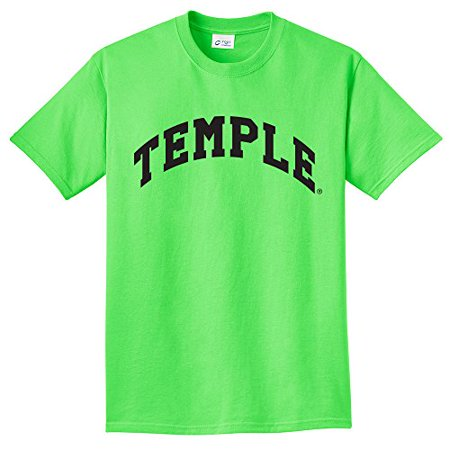 - NCAA Temple Owls Arch Neon T-Shirt, Neon Green, 4X-Large